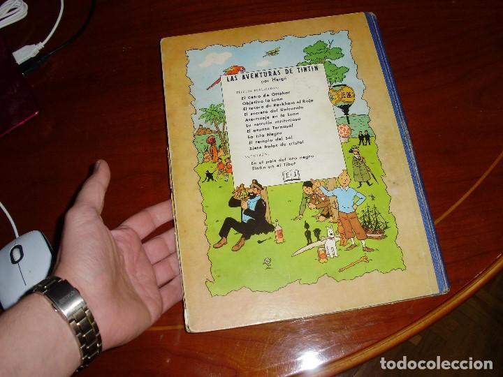 Cómics: TINTIN PRIMERA EDICION ISLA NEGRA 1961 JUVENTUD .... 3-2-1... ¡¡¡ BOOOM !!! - Foto 7 - 108541439
