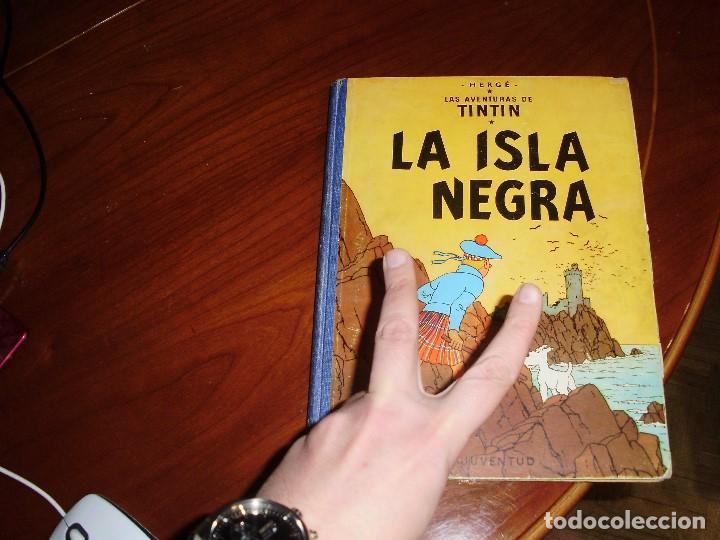 Cómics: TINTIN PRIMERA EDICION ISLA NEGRA 1961 JUVENTUD .... 3-2-1... ¡¡¡ BOOOM !!! - Foto 8 - 108541439