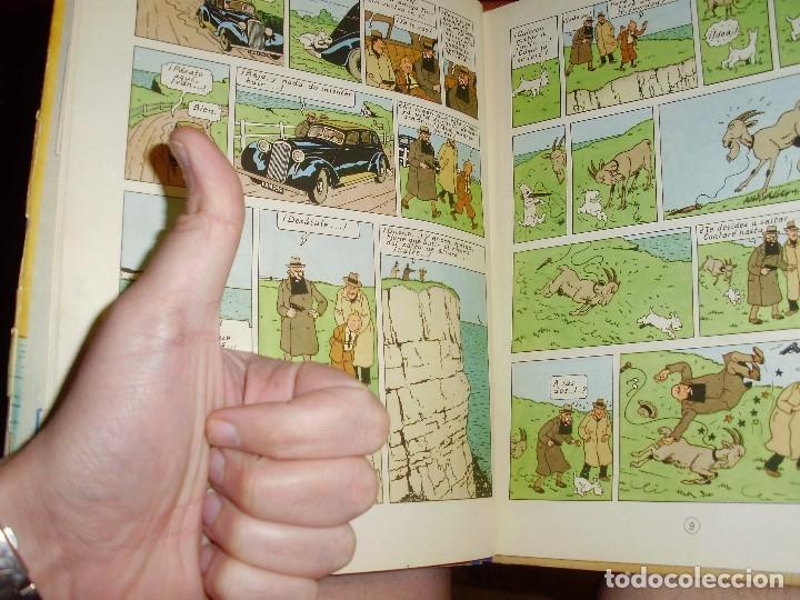 Cómics: TINTIN PRIMERA EDICION ISLA NEGRA 1961 JUVENTUD .... 3-2-1... ¡¡¡ BOOOM !!! - Foto 10 - 108541439
