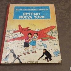 Cómics: JO, ZETTE Y JOCKO. DESTINO NUEVA YORK HERGÉ PRIMERA EDICIÓN 1970 JUVENTUD. Lote 109050735