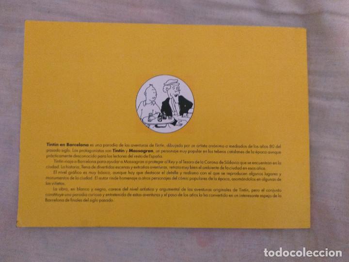 Cómics: Tintin en Barcelona - Apócrifo - Tintin y Massagran D30 - Foto 2 - 109399987