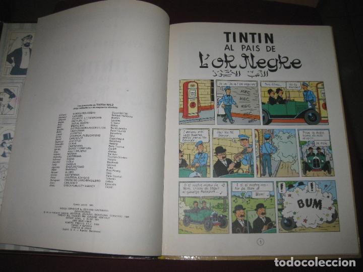 Cómics: HERGE. LES AVENTURES DE TINTIN . TINTIN AL PAIS DE L'OR NEGRE. EDITORIAL JOVENTUT. 1981. - Foto 3 - 110675075