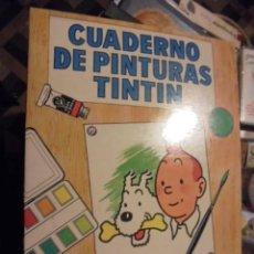 Cómics: CUADERNO DE PINTURAS TINTIN G5 - STOCK DE TIENDA SIN USAR - 1967 - IMPECABLE. Lote 110687131