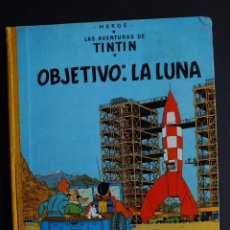 Cómics: TINTIN : OBJETIVO: LA LUNA. 2ª EDICIÓN ABRIL 1964 LOMO EN TELA AMARILLO HERGÉ JUVENTUD. Lote 149238738