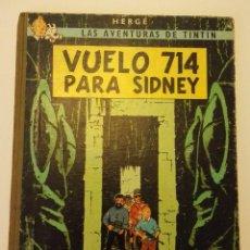 Cómics: TINTIN VUELO 714 PARA SIDNEY PRIMERA EDICION JUVENTUD 1969. Lote 111757859