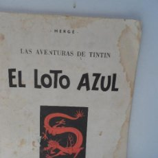 Cómics: LAS AVENTURAS DE TINTIN: EL LOTO AZUL - 1982.. Lote 111819839