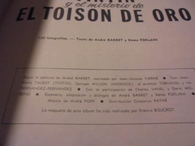 Cómics: TINTIN CINE EL MISTERIO TOISON DE ORO - JUVENTUD 1975 / 3ª EDICION - LOMO AMARILLO - Foto 5 - 111932431