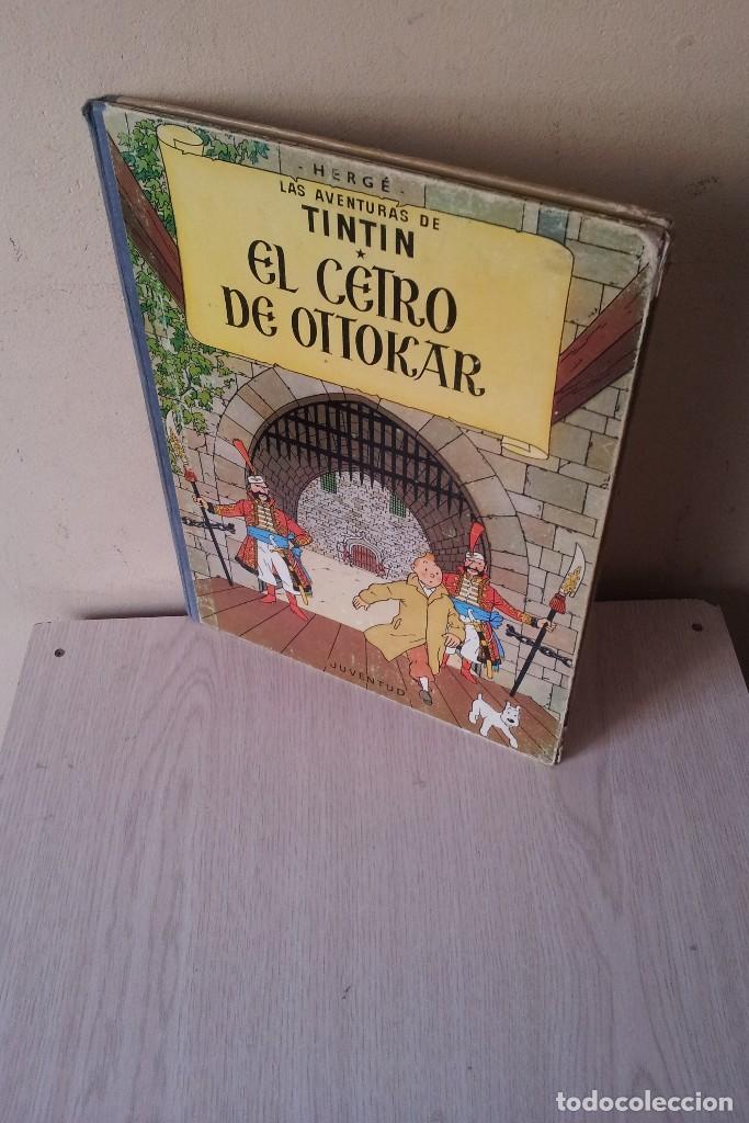 TINTIN - EL CETRO DE OTTOCAR - EDITORIAL JUVENTUD - CUARTA EDICION 1968 (Tebeos y Comics - Juventud - Tintín)