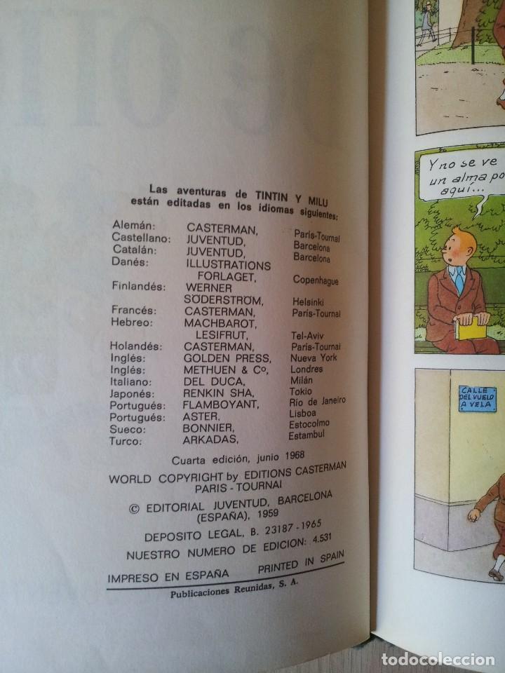 Cómics: TINTIN - EL CETRO DE OTTOCAR - EDITORIAL JUVENTUD - CUARTA EDICION 1968 - Foto 2 - 112038051