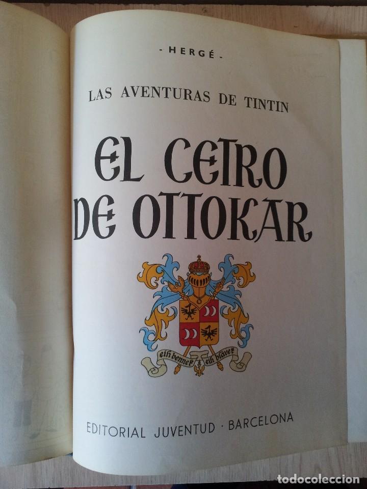 Cómics: TINTIN - EL CETRO DE OTTOCAR - EDITORIAL JUVENTUD - CUARTA EDICION 1968 - Foto 3 - 112038051