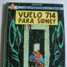 Cómics: VUELO 714 PARA SIDNEY - HERGÉ (JUVENTUD, 1971). 2ª ED. LOMO TELA TAPAS DURAS.. Lote 112952587