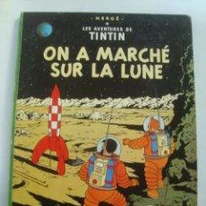 Comics: ON A MARCHÉ SUR LA LUNE. LES AVENTURES DE TINTIN - HERGÉ (CASTERMAN, AÑOS 60). FRANCÉS. TAPAS DURAS.. Lote 112955383