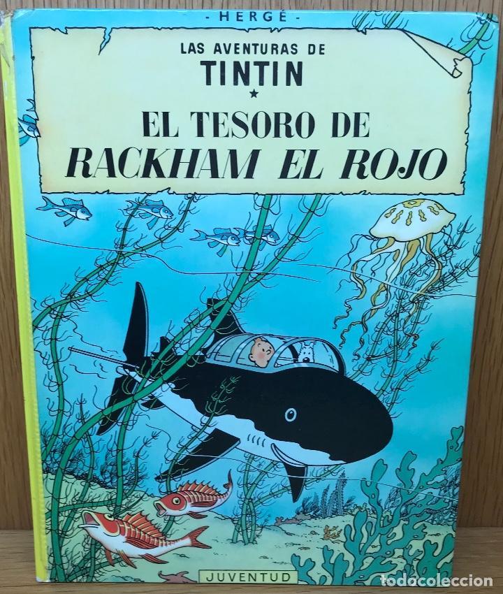 LAS AVENTURAS DE TINTIN - HERGÉ - EL TESORO DE RACKHAM EL ROJO - JUVENTUD - AÑO 1981 (Tebeos y Comics - Juventud - Tintín)