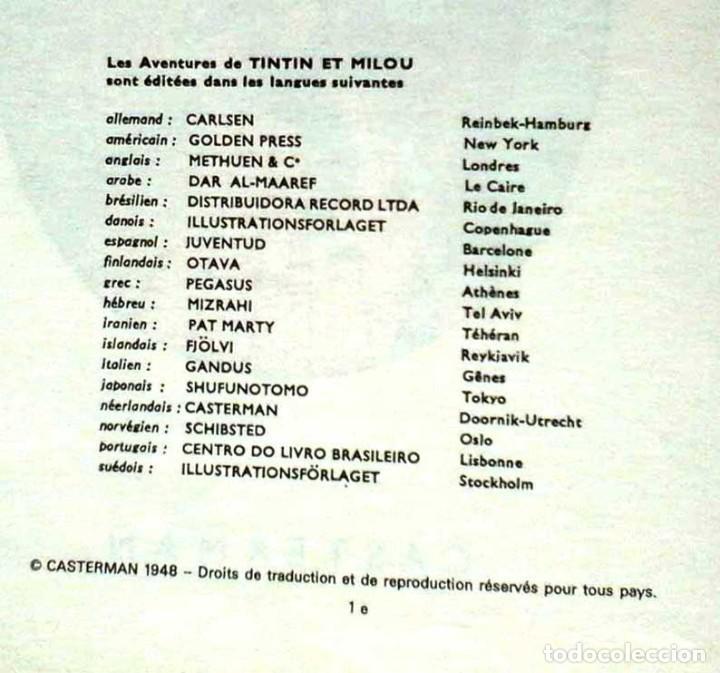 Cómics: TINTÍN LES 7 BOULES DE CRISTAL. EDIT. CASTERMAN. EN FRANCÉS. 1966 - Foto 4 - 113648799