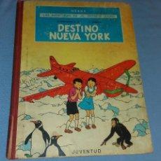 Cómics: AVENTURAS DE JO ZETTE Y JOCKO HERGE DESTINO NUEVA YORK COLECCION JUVENTUD 1 ª EDICION AÑO 1970. Lote 113893839