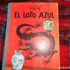 Cómics: AVENTURAS DE TINTIN -EL LOTO AZUL -1ª ED. 1965-. Lote 114064659