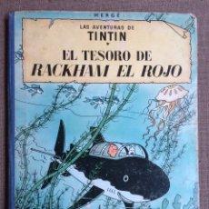 Cómics: TINTÍN - EL TESORO DE RACKHAM EL ROJO. SEGUNDA EDICIÓN 1964. Lote 114071908