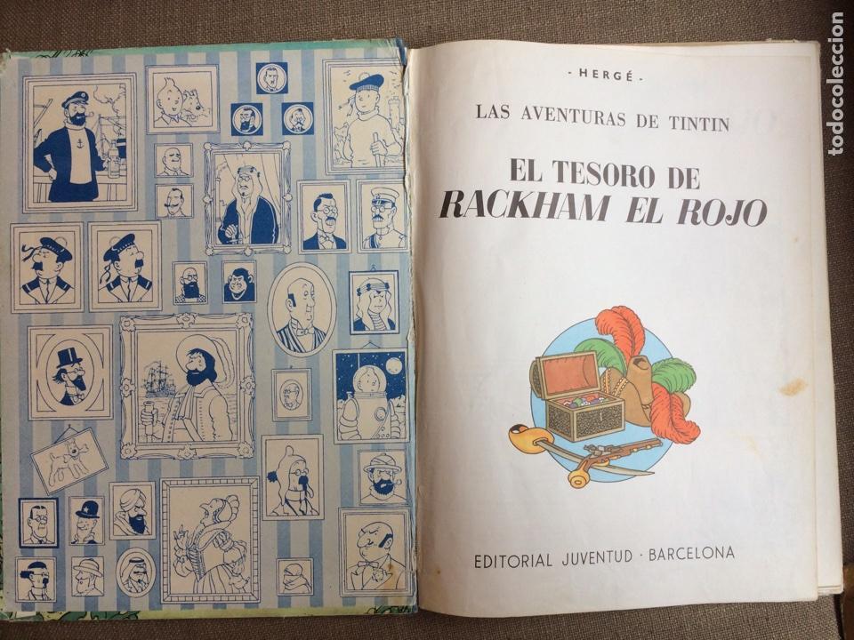 Cómics: Tintín - El Tesoro de Rackham el Rojo. Segunda Edición 1964 - Foto 3 - 114071908