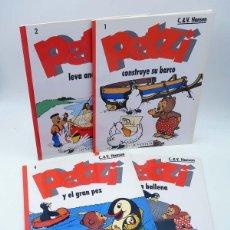 Cómics: PETZI 1 2 3 Y 4. CONSTRUYE SU BARCO / LEVA ANCLAS / Y LA BALLENA / Y EL GRAN PEZ (C. & V. HANSEN). Lote 114278331
