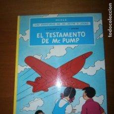 Cómics: TOMO CARTONÉ LAS AVENTURAS DE JO, ZETTE Y JOCKO: EL TESTAMENTO DE MR. PUMP. HERGÉ. JUVENTUD.. Lote 114737215
