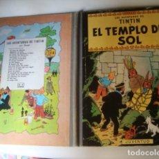 Comics - EL TEMPLO DEL SOL. LAS AVENTURAS DE TINTÍN - HERGÉ (JUVENTUD, 1961). 2ª EDICIÓN LOMO TELA TAPA DURA - 112952095