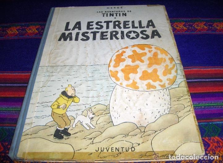 TINTIN PRIMERA 1ª LA ESTRELLA MISTERIOSA Y EL ARTE ALFA. JUVENTUD. SUELTOS CONSULTAR. (Tebeos y Comics - Juventud - Tintín)