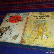 Cómics: TINTIN LOS GIGARROS DEL FARAÓN 3ª TERCERA EDICIÓN 1968 Y EN EL TÍBET 4ª CUARTA 1970 JUVENTUD. SALDOS. Lote 117615203