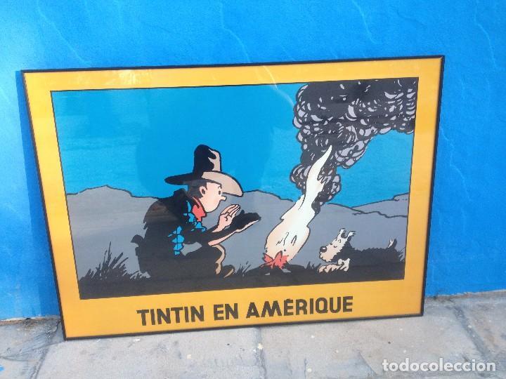 CUADRO TINTIN EN AMERIQUE. (Tebeos y Comics - Juventud - Tintín)