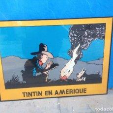 Cómics: CUADRO TINTIN EN AMERIQUE.. Lote 117792955
