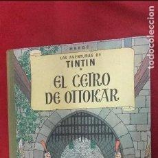 Fumetti: EL CETRO DE OTTOKAR 2ª EDICION - TINTIN - HERGE - CARTONE LOMO DE TELA. Lote 118262943