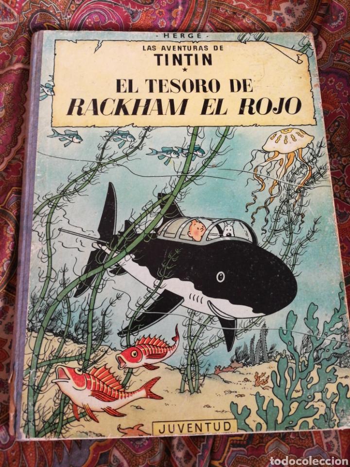 TINTIN- EL TESORO DE RACKHAM EL ROJO, HERGÉ- ED.JUVENTUD, 4° EDICIÓN 1971. (Tebeos y Comics - Juventud - Tintín)