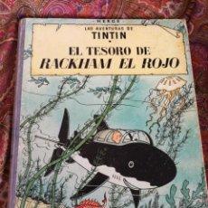 Cómics: TINTIN- EL TESORO DE RACKHAM EL ROJO, HERGÉ- ED.JUVENTUD, 4° EDICIÓN 1971.. Lote 118352732