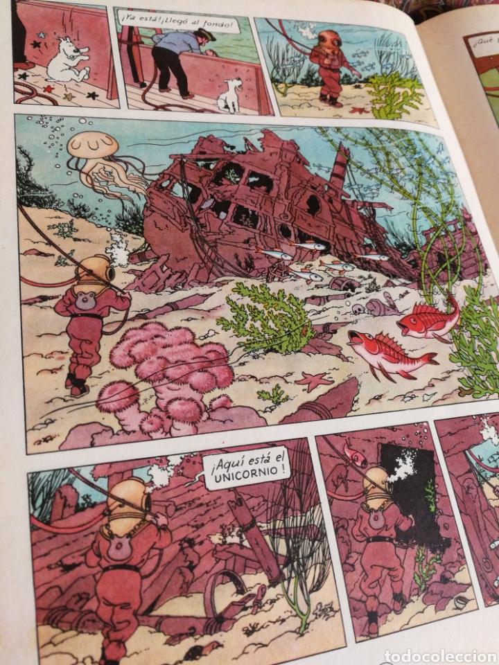 Cómics: TINTIN- EL TESORO DE RACKHAM EL ROJO, HERGÉ- ED.JUVENTUD, 4° EDICIÓN 1971. - Foto 3 - 118352732