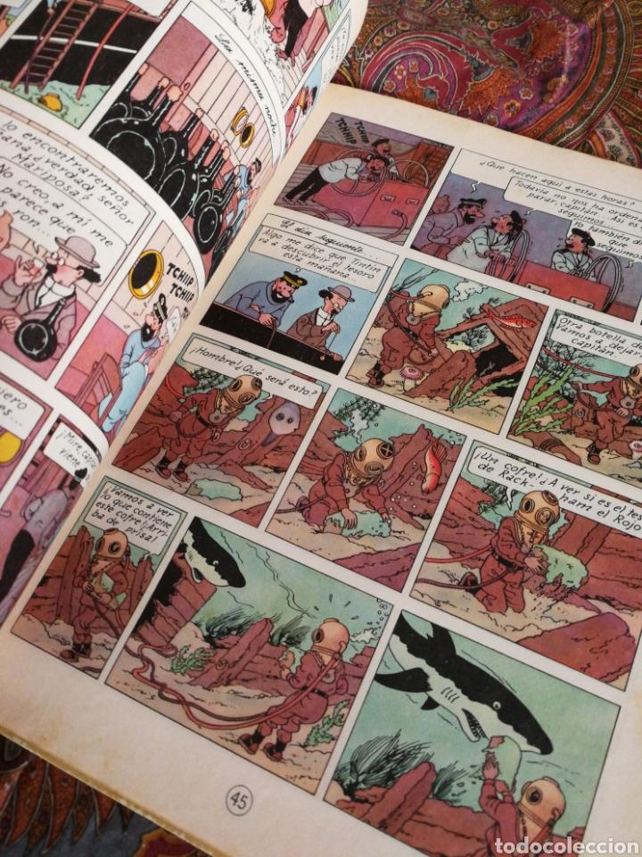 Cómics: TINTIN- EL TESORO DE RACKHAM EL ROJO, HERGÉ- ED.JUVENTUD, 4° EDICIÓN 1971. - Foto 4 - 118352732