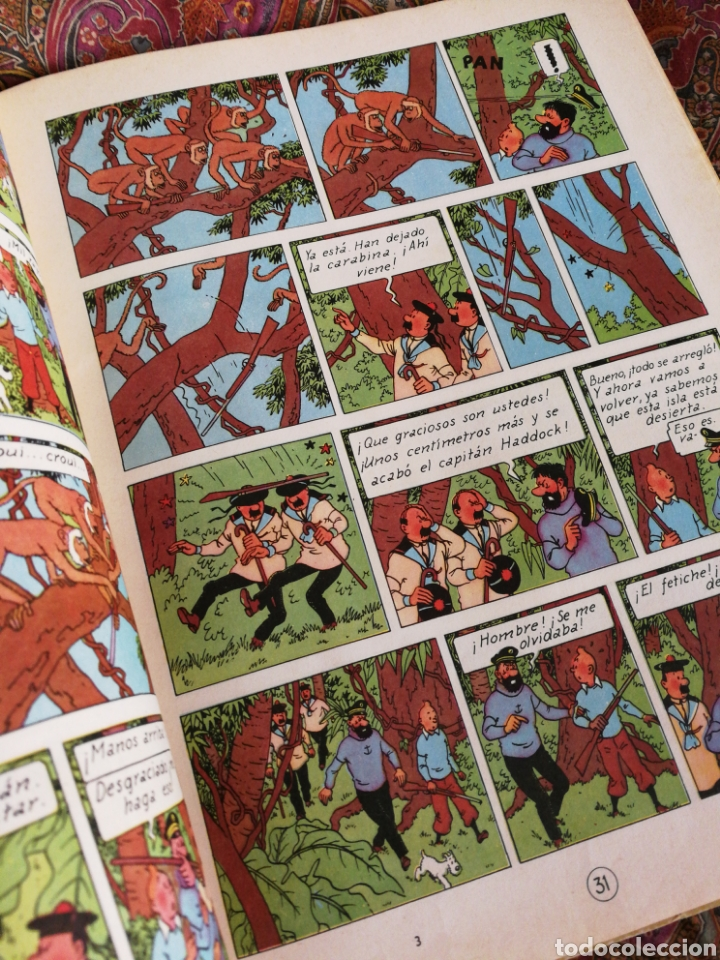 Cómics: TINTIN- EL TESORO DE RACKHAM EL ROJO, HERGÉ- ED.JUVENTUD, 4° EDICIÓN 1971. - Foto 5 - 118352732