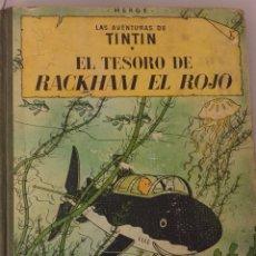 Cómics: TINTÍN EL TESORO DE RACKHAM EL ROJO. 3A ED. 1965. LOMO EN TELA. Lote 120621956