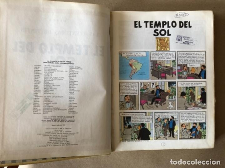Cómics: LAS AVENTURAS DE TINTÍN, HERGÉ (EDITORIAL JUVENTUD) TOMO 4. 4 OBRAS. - Foto 2 - 121627695