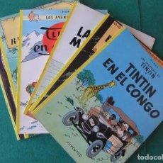 Cómics: TINTIN LOTE DE 6 NUMEROS EDITORIAL JUVENTUD EN RUSTICA. Lote 121710047
