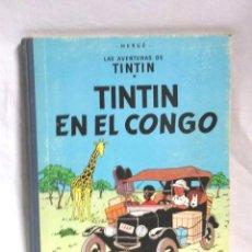 Comics : TINTIN EN EL CONGO EDITORIAL JUVENTUD AÑO 1968 DE HERGÉ PRIMERA EDICIÓN. Lote 123088379