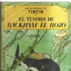 Cómics: TINTIN EL TESORO DE RACKHAM EL ROJO HERGE TERSERA EDICION ,1965. Lote 123595855
