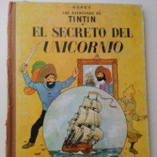 Cómics: TINTIN EL SECRETO DEL UNICORNIO JUVENTUD 3ª ED. 1965 LOMO TELA. Lote 124270483