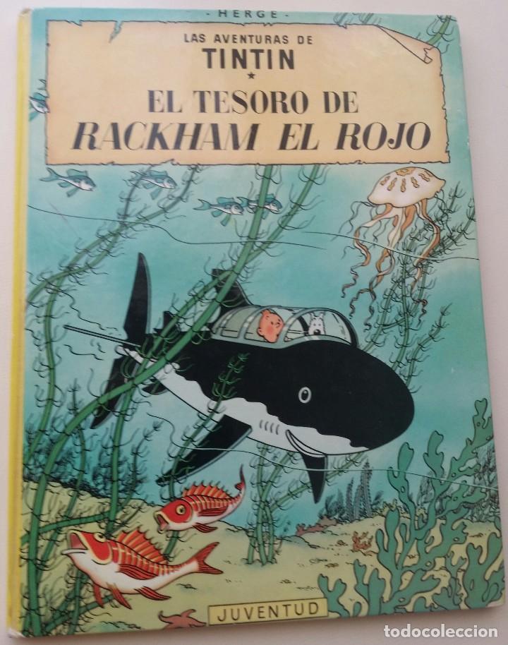 TINTIN EL TESORO DE RACKHAM EL ROJO, ED. JUVENTUD 10ª 1984 (Tebeos y Comics - Juventud - Tintín)