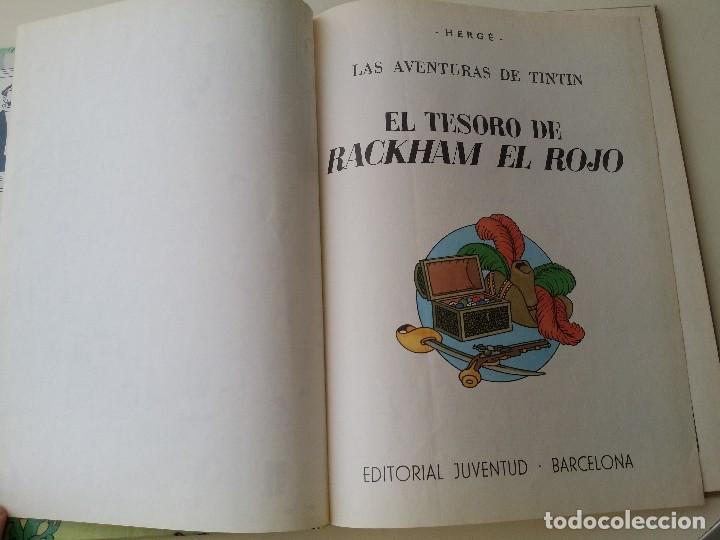 Cómics: TINTIN EL TESORO DE RACKHAM EL ROJO, ED. JUVENTUD 10ª 1984 - Foto 3 - 124271547