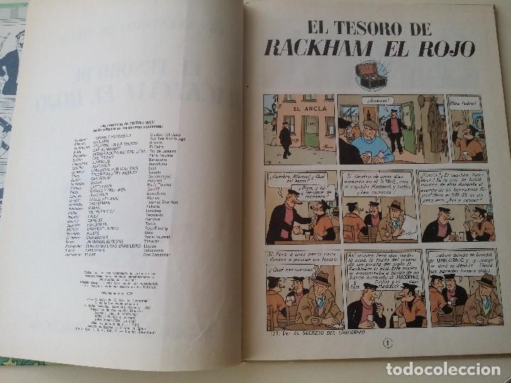 Cómics: TINTIN EL TESORO DE RACKHAM EL ROJO, ED. JUVENTUD 10ª 1984 - Foto 4 - 124271547