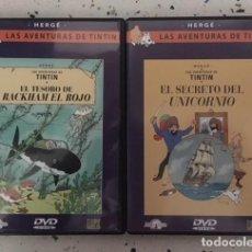Cómics: TINTIN DVD X 2: EL TESORO DE RACKHAM EL ROJO Y EL SECRETO DEL UNICORNIO. Lote 124421343
