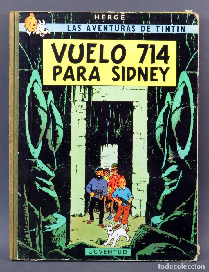 AVENTURAS TINTÍN HERGE VUELO 714 PARA SIDNEY EDITORIAL JUVENTUD 1969 1ª EDICIÓN (Tebeos y Comics - Juventud - Tintín)