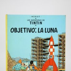 Cómics: CÓMIC TAPA DURA - TINTIN, OBJETIVO: LA LUNA - EDITORIAL JUVENTUD - AÑO 1979. Lote 124787387
