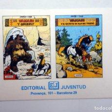 Cómics: YAKARI Y GRIZZLY / Y EL SECRETO DEL HIJO DEL TRUENO TARJETA PUBLICITARIA (DERIB / JOB) JUVENTUD, S/F. Lote 124878314