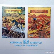 Cómics: YAKARI Y LOS CASTORES / Y NANABOZO TARJETA PUBLICITARIA (DERIB / JOB) JUVENTUD, S/F. Lote 124878322