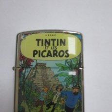 Cómics: MECHERO TIPO ZIPPO TINTIN . TINTIN Y LOS PICAROS. Lote 139648237